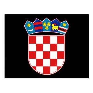 croatia emblem postcard