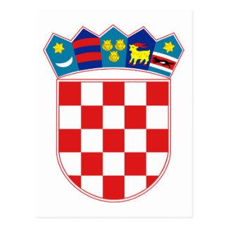 croatia emblem post cards