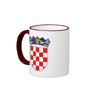 croatia emblem ringer mug