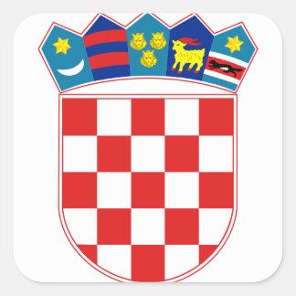 croatia emblem square sticker