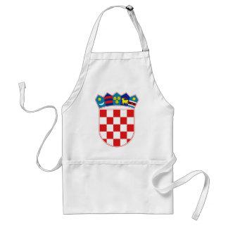 croatia emblem standard apron