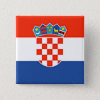 Croatia Flag 15 Cm Square Badge