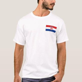 Croatia Flag and Map T-Shirt