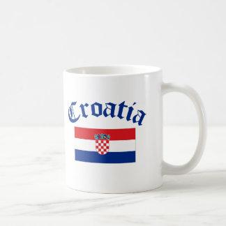 Croatia Flag Basic White Mug