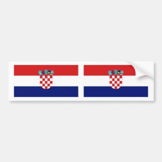 Croatia Flag Bumper Sticker
