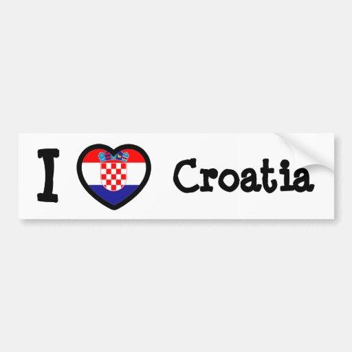 Croatia Flag Bumper Stickers