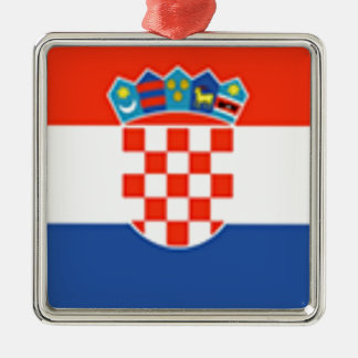 Croatia Flag Christmas Ornament
