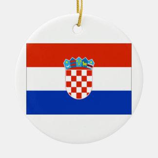 Croatia Flag Round Ceramic Decoration