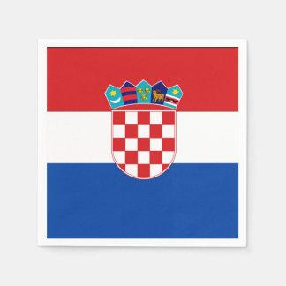Croatia Flag Disposable Serviette