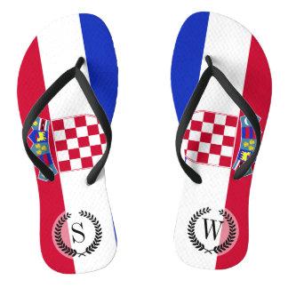 Croatia Flag Flip Flops