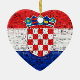 Croatia Flag glitter ornament