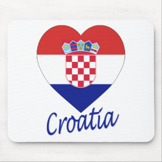 Croatia Flag Heart Mouse Mat