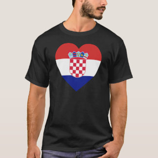Croatia Flag Heart T-Shirt
