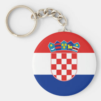 Croatia Flag HR Hrvatska Key Ring
