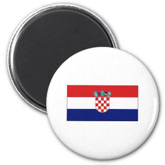 Croatia FLAG International 6 Cm Round Magnet