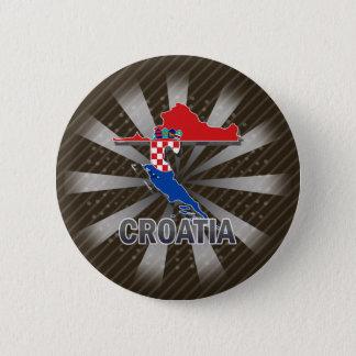Croatia Flag Map 2.0 6 Cm Round Badge