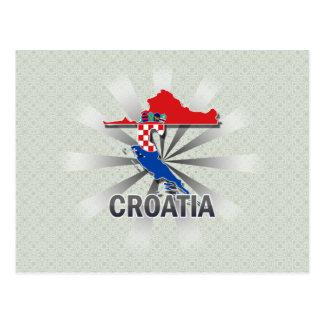Croatia Flag Map 2.0 Postcard