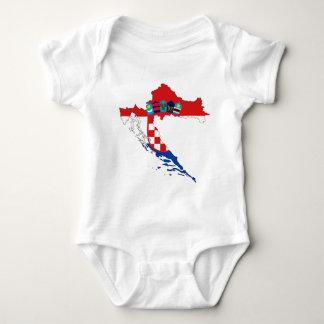 Croatia Flag Map Baby Bodysuit