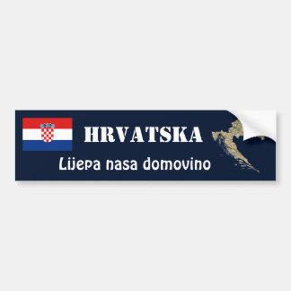 Croatia Flag + Map Bumper Sticker