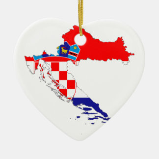 Croatia Flag Map Christmas Ornament