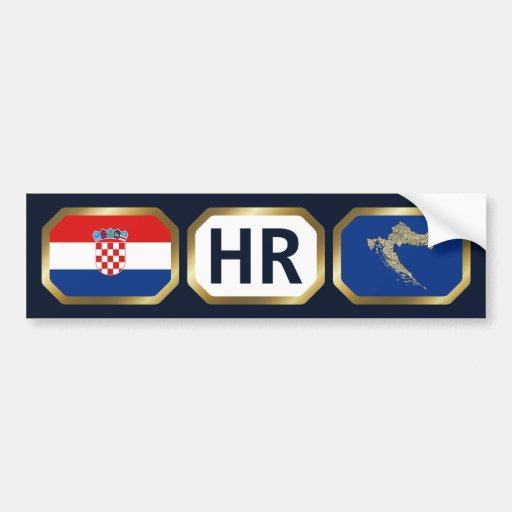 Croatia Flag Map Code Bumper Sticker