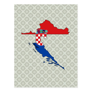 Croatia Flag Map full size Post Card