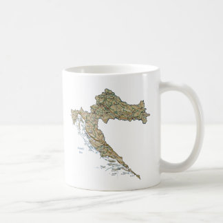 Croatia Flag ~ Map Mug