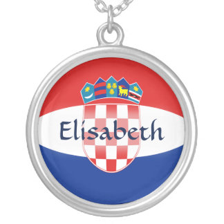 Croatia Flag + Name Necklace