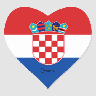 Croatia: Flag of Croatia Heart Sticker
