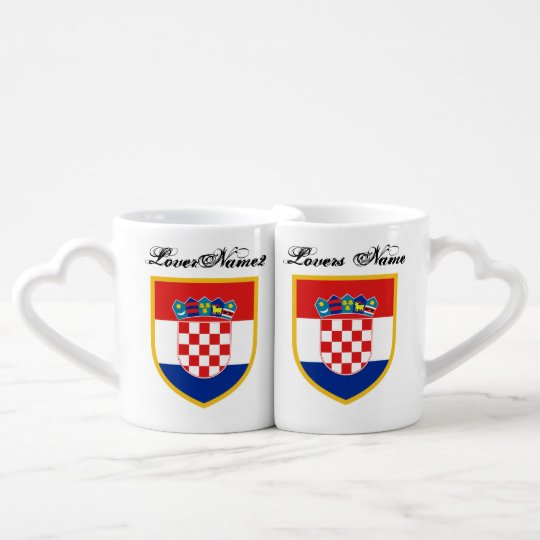 Croatia Flag Personalised Coffee Mug Set