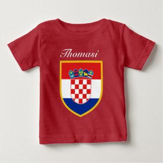 Croatia Flag Personalized Baby T-Shirt