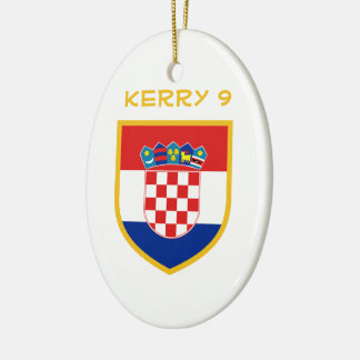 Croatia Flag Personalized Christmas Ornament