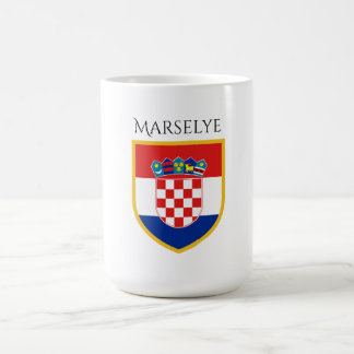 Croatia Flag Personalized Coffee Mug