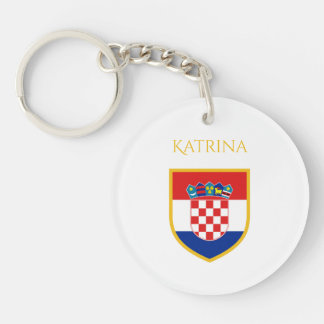 Croatia Flag Personalized Key Ring