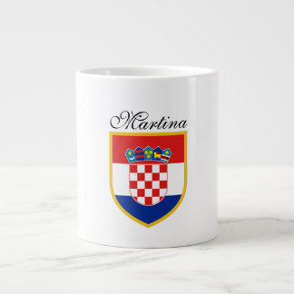 Croatia Flag Personalized Large Coffee Mug