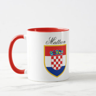 Croatia Flag Personalized Mug