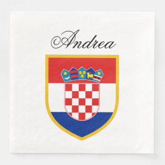 Croatia Flag Personalized Paper Serviettes