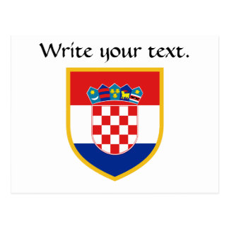 Croatia Flag Personalized Postcard