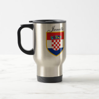 Croatia Flag Personalized Travel Mug