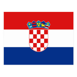Croatia Flag Postcard