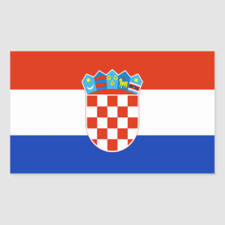 Croatia Flag Rectangular Sticker