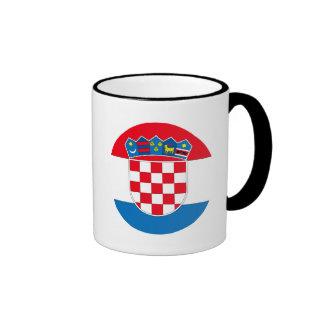 Croatia Flag Ringer Mug