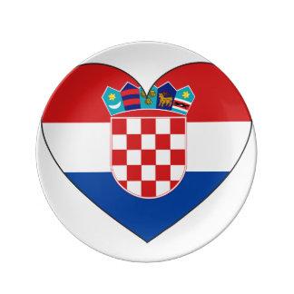 Croatia Flag Simple Plate