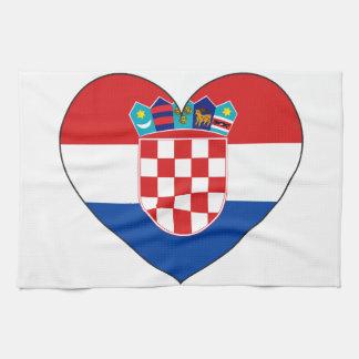 Croatia Flag Simple Tea Towel