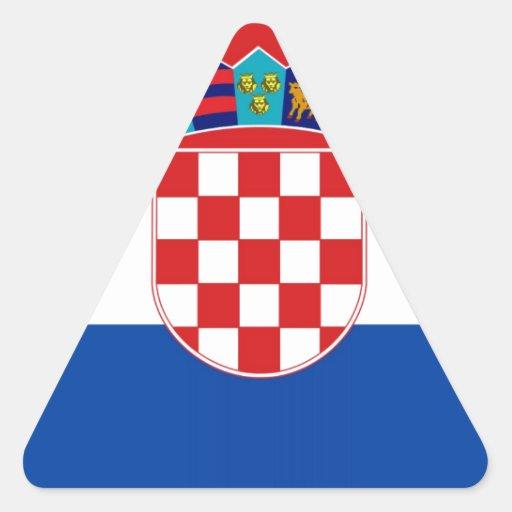 Croatia Flag Triangle Sticker
