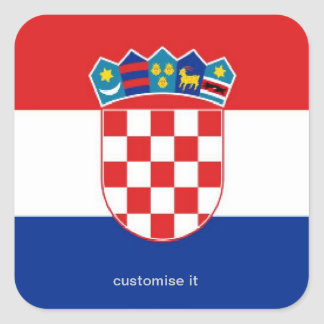 Croatia flag sticker