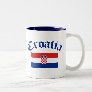 Croatia Flag Two-Tone Coffee Mug