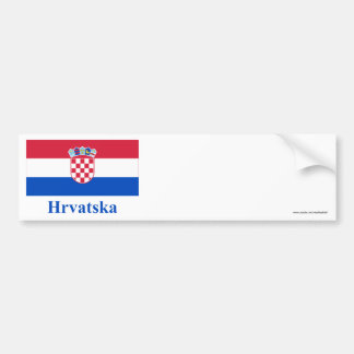 Croatia Flag with Name in Croatian Bumper Sticker