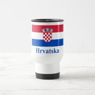 Croatia Flag with Name in Croatian Coffee Mug