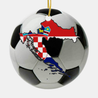 Croatia football soccer ornament
